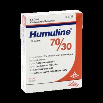 Insulin Humulin 3070 Cartridge
