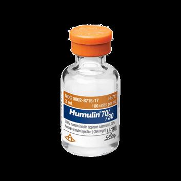 Insulin Humulin 3070 Vial