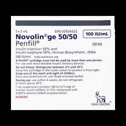 Insulin Novolin GE 5050 PenFill Cartridge 5 x 3 ml